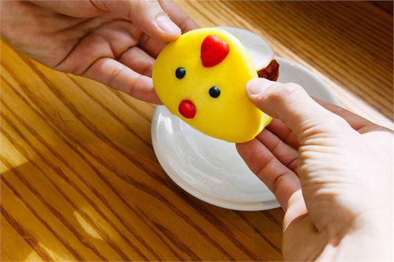 Easter chick bao at Bao