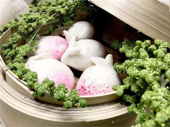 Easter bunny bun at Bun House