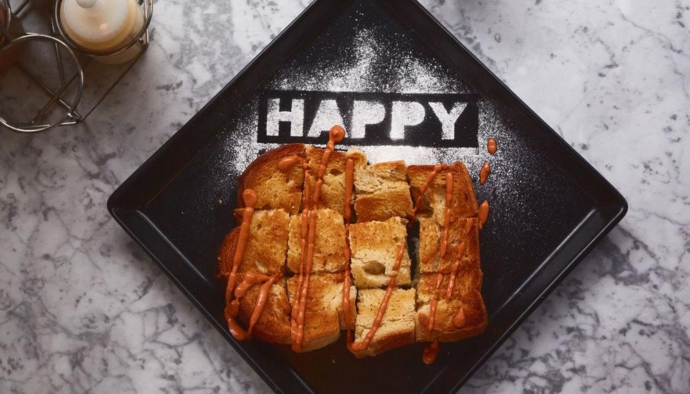 Greyhound Cafe happy toast