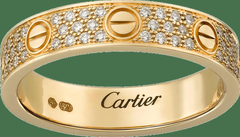 gold cartier wedding band