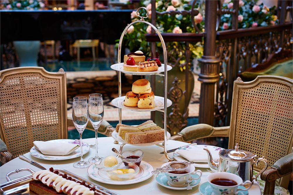 The Thames Foyer at The Savoy hotel afternoon tea