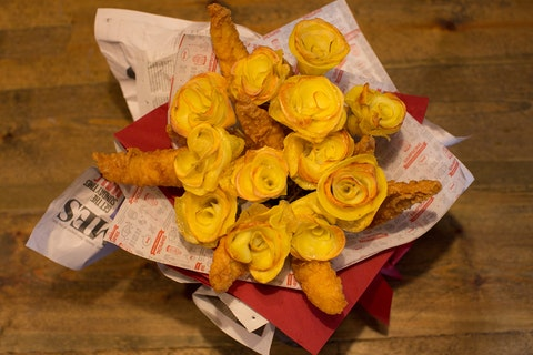 This restaurant is serving up fish & chip bouquets for Valentine's Day