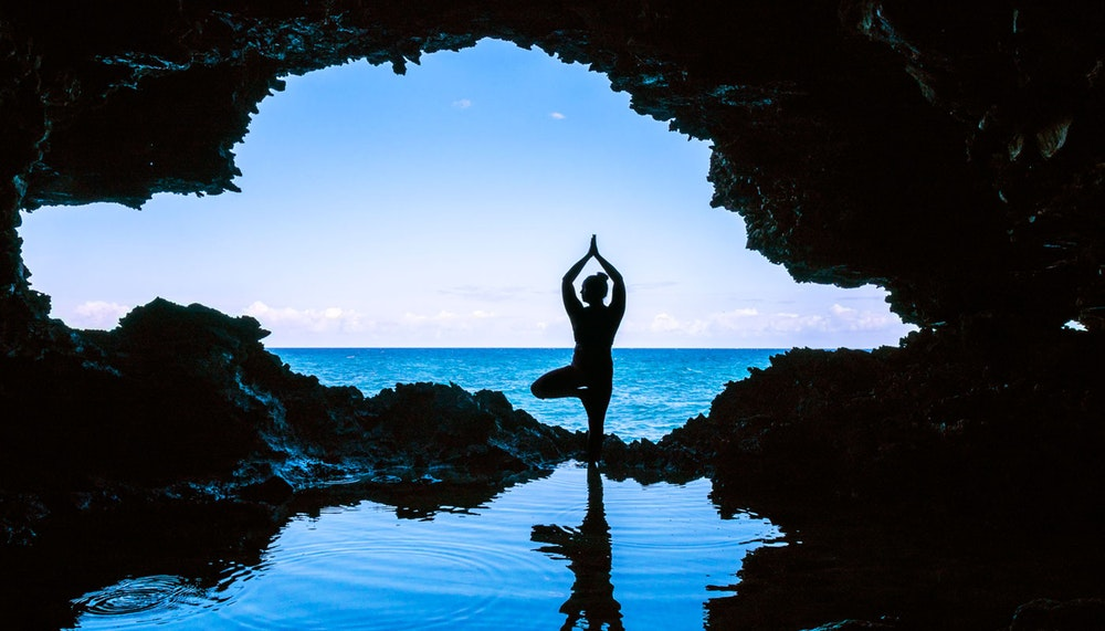 Yoga Barbados cave