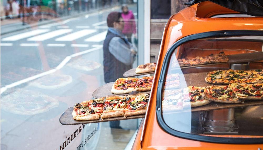 Arancina pizza fiat 500