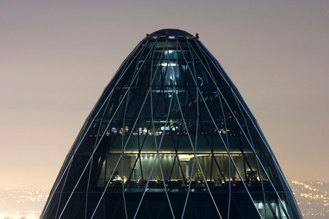 Wine with a view at the Gherkin