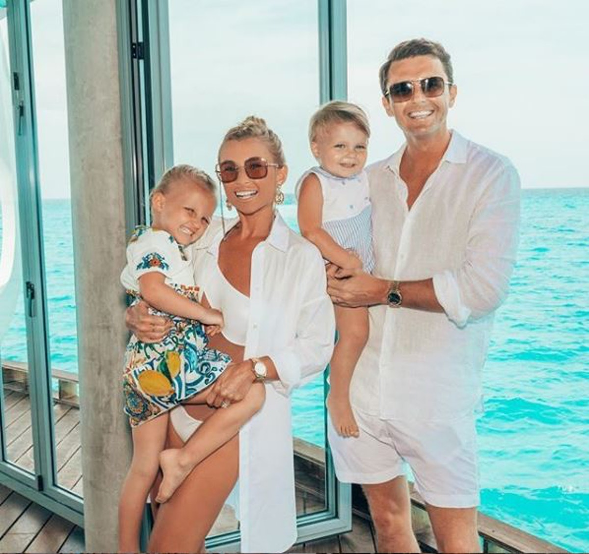 A famous face serenaded Billie Faiers at her Maldives wedding