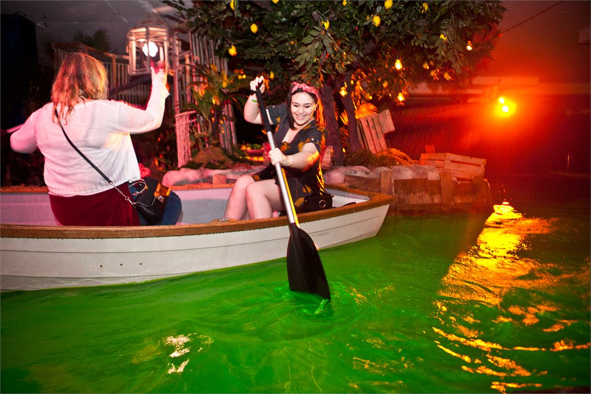 Sail across a fluorescent green lagoon this St Patrick's Day