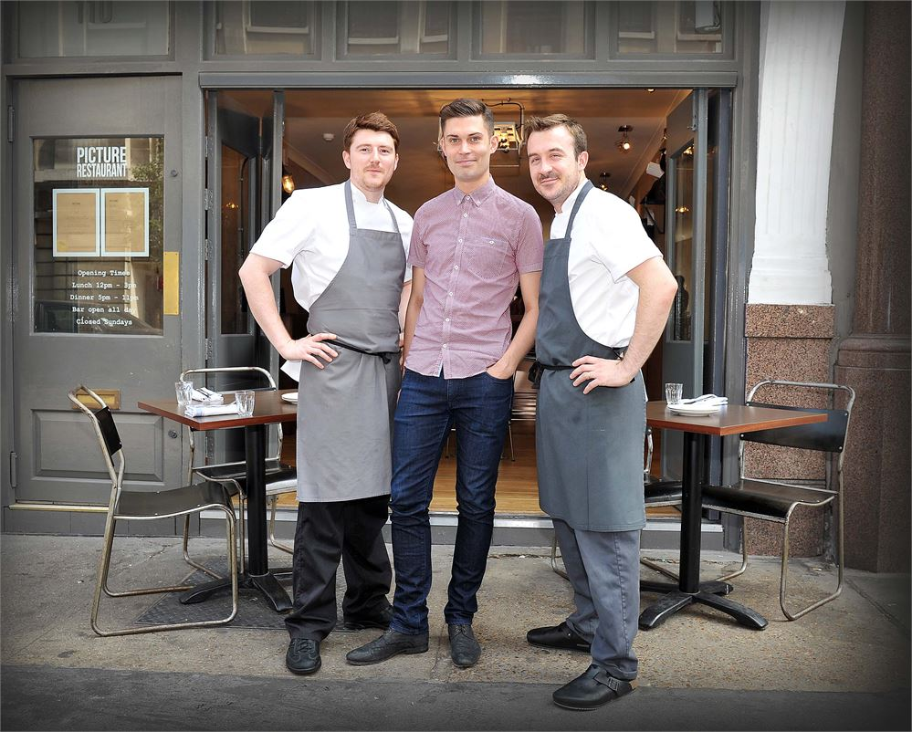 Picture restaurants' owners Alan Christie, Tom Slegg and Colin Kelly