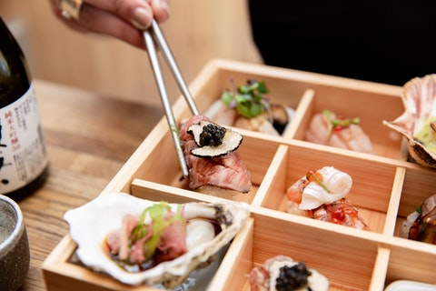 Win A5 Japanese Wagyu on hot stone, sushi and a glass of Champagne for two at Hot Stone
