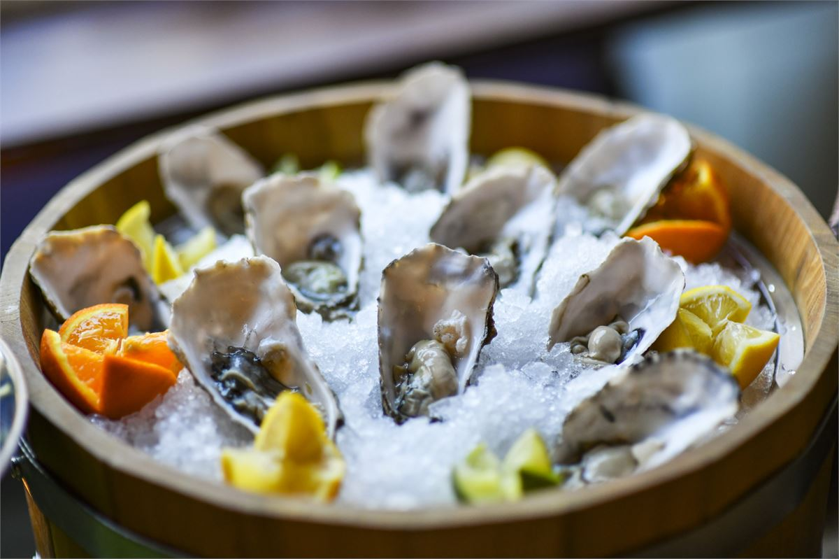 You can get bottomless champagne and oysters at this London restaurant