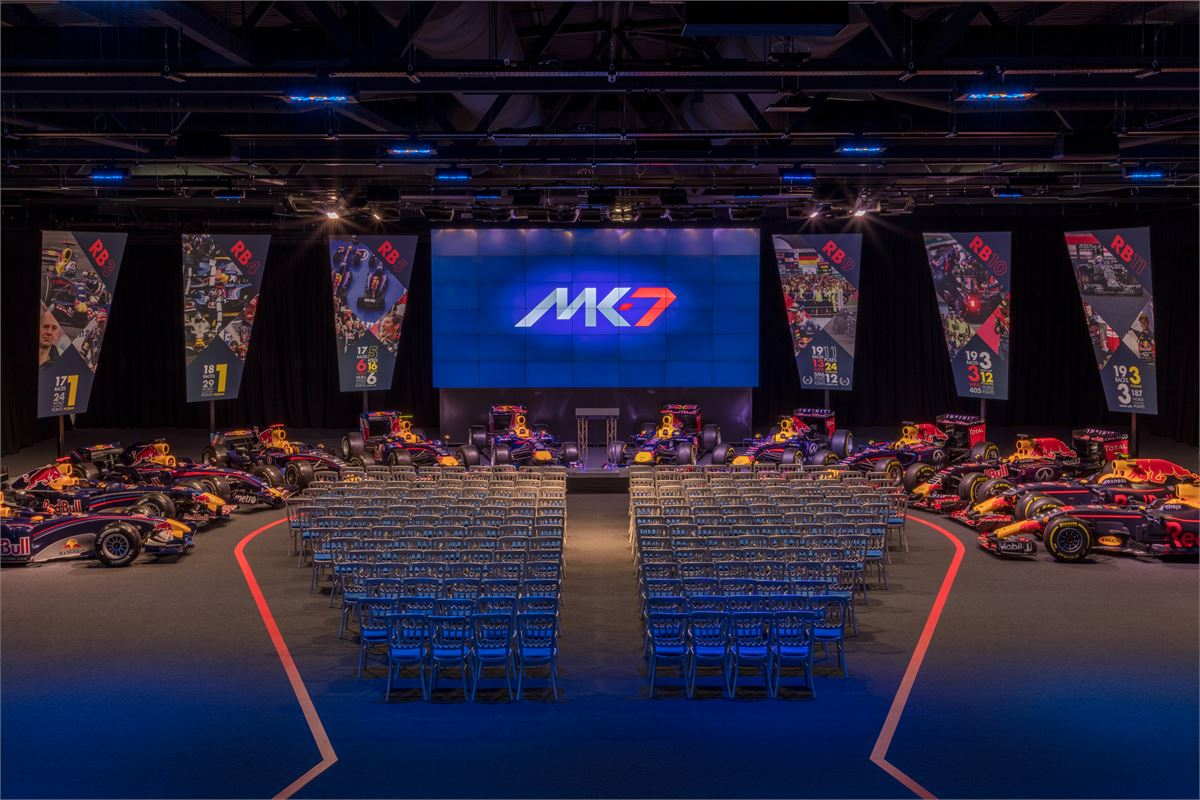 Red Bull Racing launches new events space, MK-7
