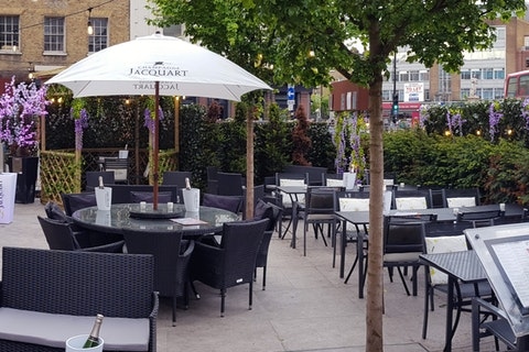 Win a meal for four from the tasting menu and a bottle of Jacquart Champagne at Inamo's Secret Garden