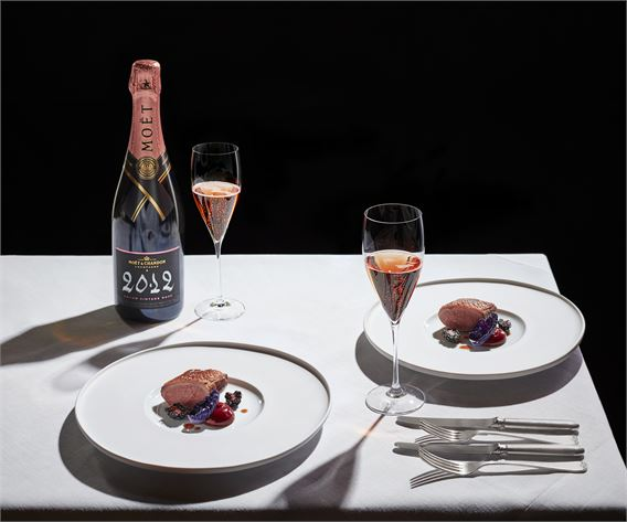 Jason Atherton's Moet & Chandon paired dinner at the Moet Summer House