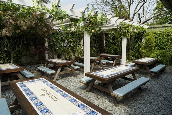 The Gin Mare Med Garden at Highgate's Red Lion & Sun