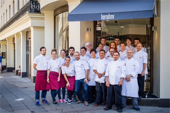The launch team of Barrafina Adelaide Street