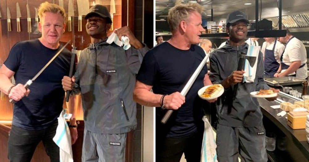 Gordon Ramsay made panini with US rapper Lil Nas X