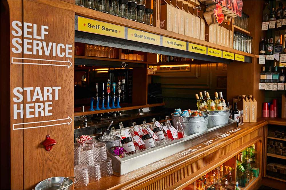 A self-service cocktail bar has opened in London