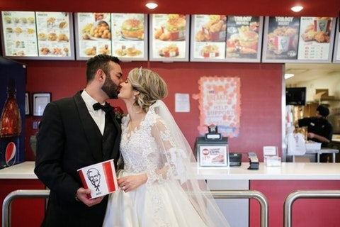 KFC can now provide a fried chicken theme for your wedding