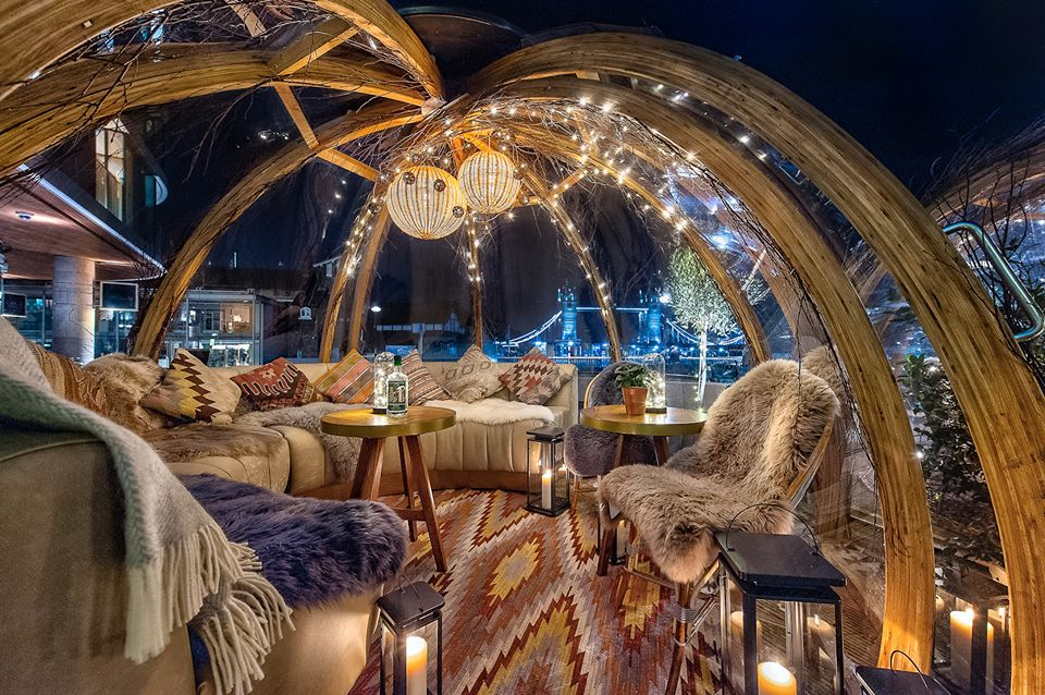 The cosiest Igloos in London where you can dine in a bubble