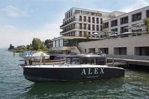 Check in at: Hotel Alex, Lake Zurich