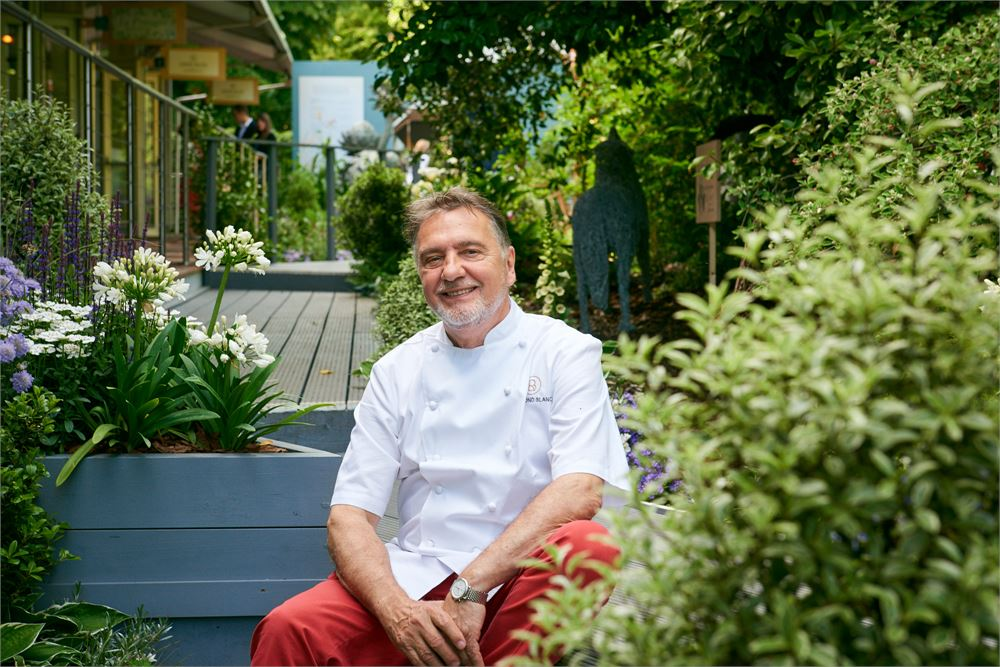 Raymond Blanc at Jardin Blanc at the RHS Chelsea Flower Show