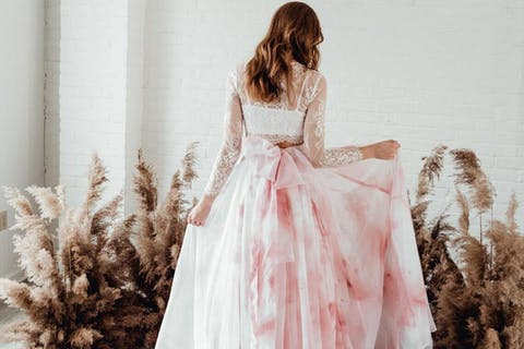 The prettiest pink wedding dresses for 2021