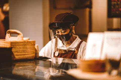 Restaurant staff will no longer be required to wear masks if restrictions relax as planned