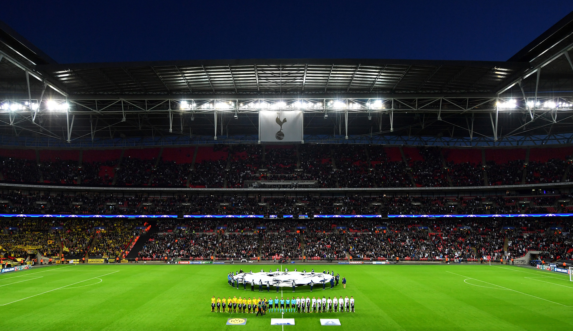 Win two places in an Executive Box at a Spurs' Champions League game football pitch uk