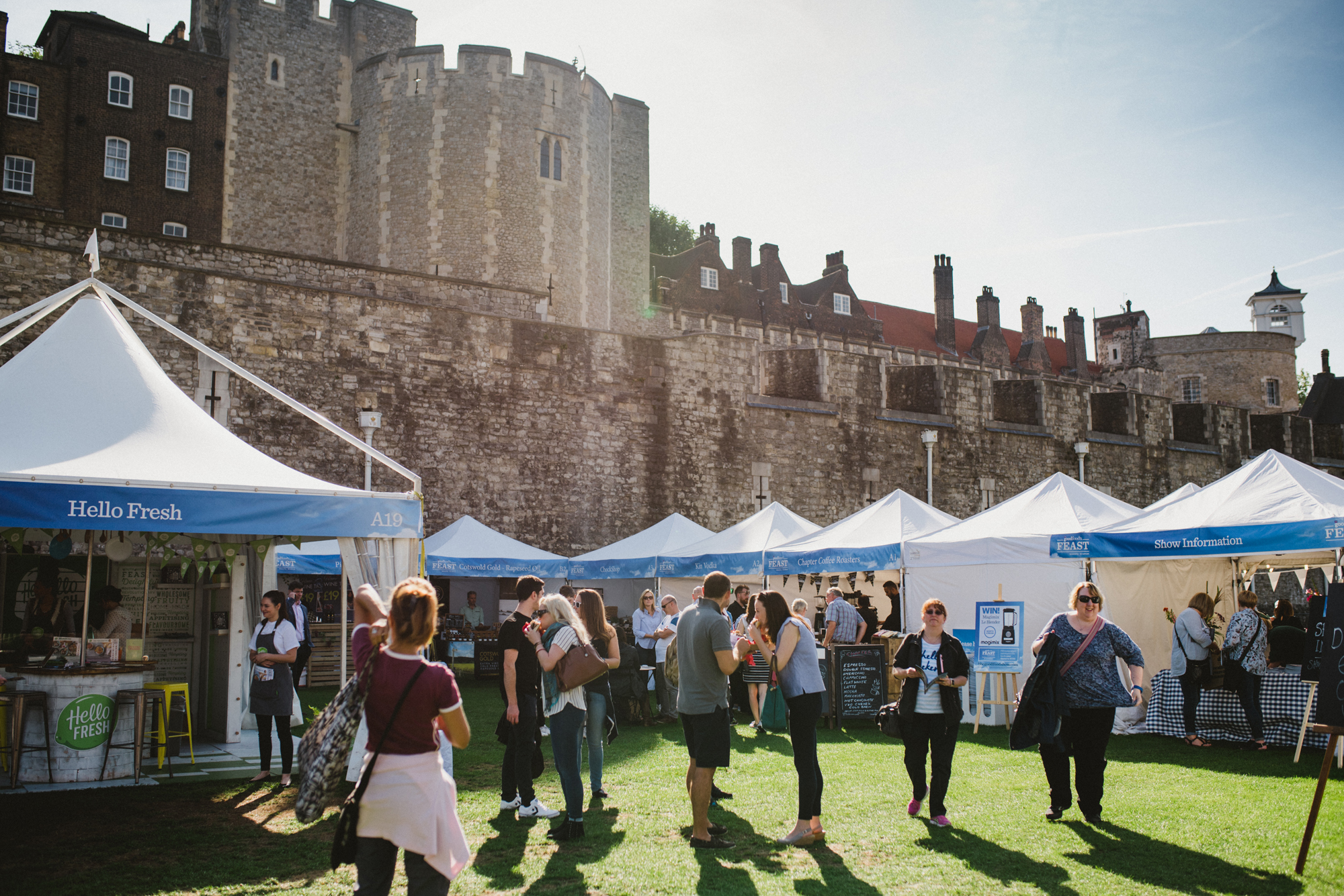 Event review BBC Good Food Show Feast Tower of London moat - credit hayley bray photography