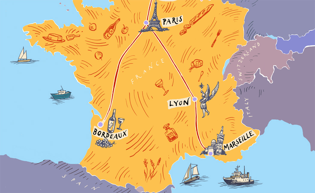 Eurostar map Paris Lyon Bordeaux Marseille destinations events MICE eventprofs