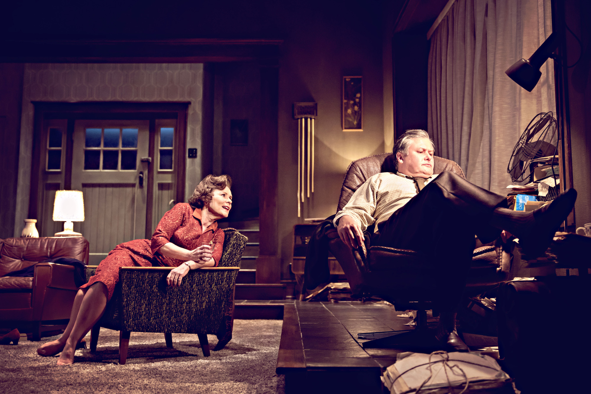 Theatre review Who's Afraid of Virginia Woolf Harold Pinter Theatre - credit johan persson