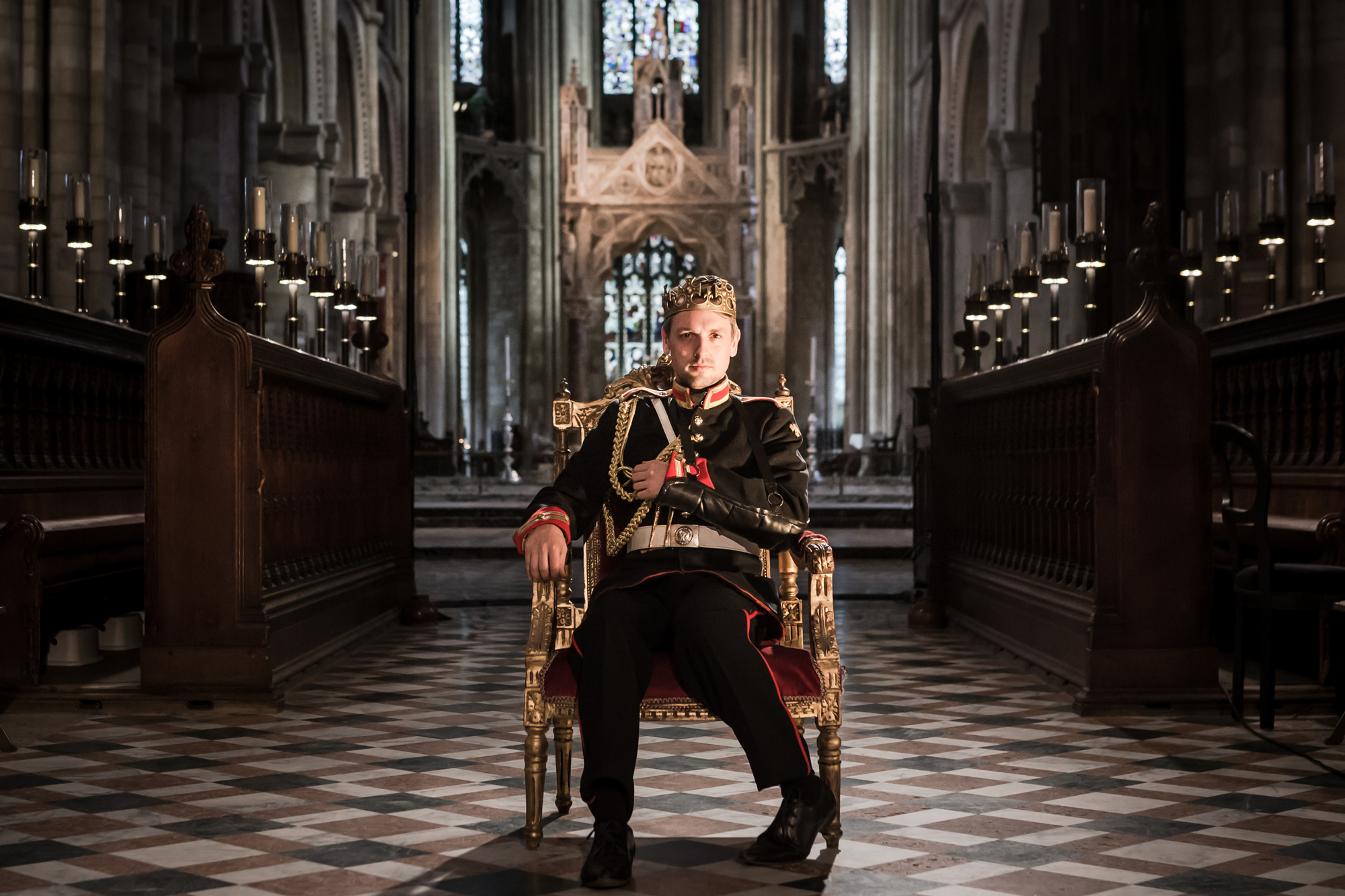 Richard III theatre review Antic Disposition Temple Church