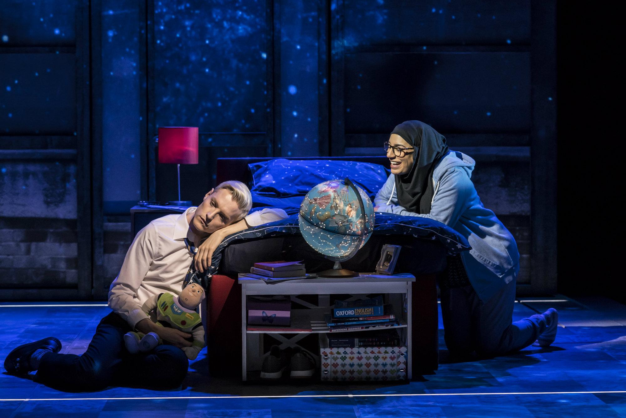John McCrea Jamie New and Lucie Shorthouse Pritti Pasha in Everybodys Talking About Jamie at the Apollo Theatre