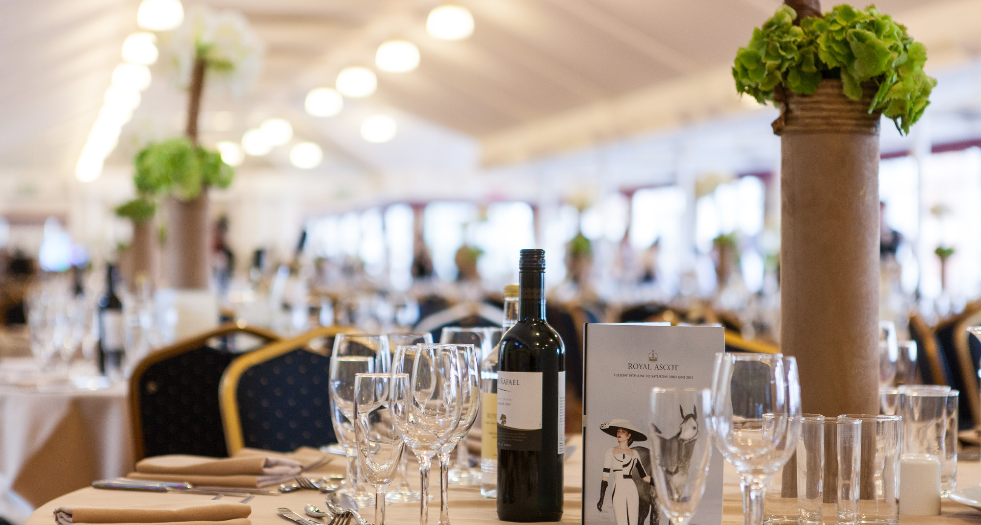 fine dining and hospitality ascot racedays tables