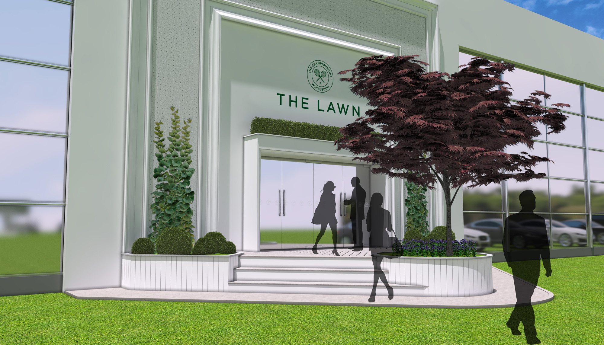 Keith Prowse hospitality Wimbledon the lawn entrance