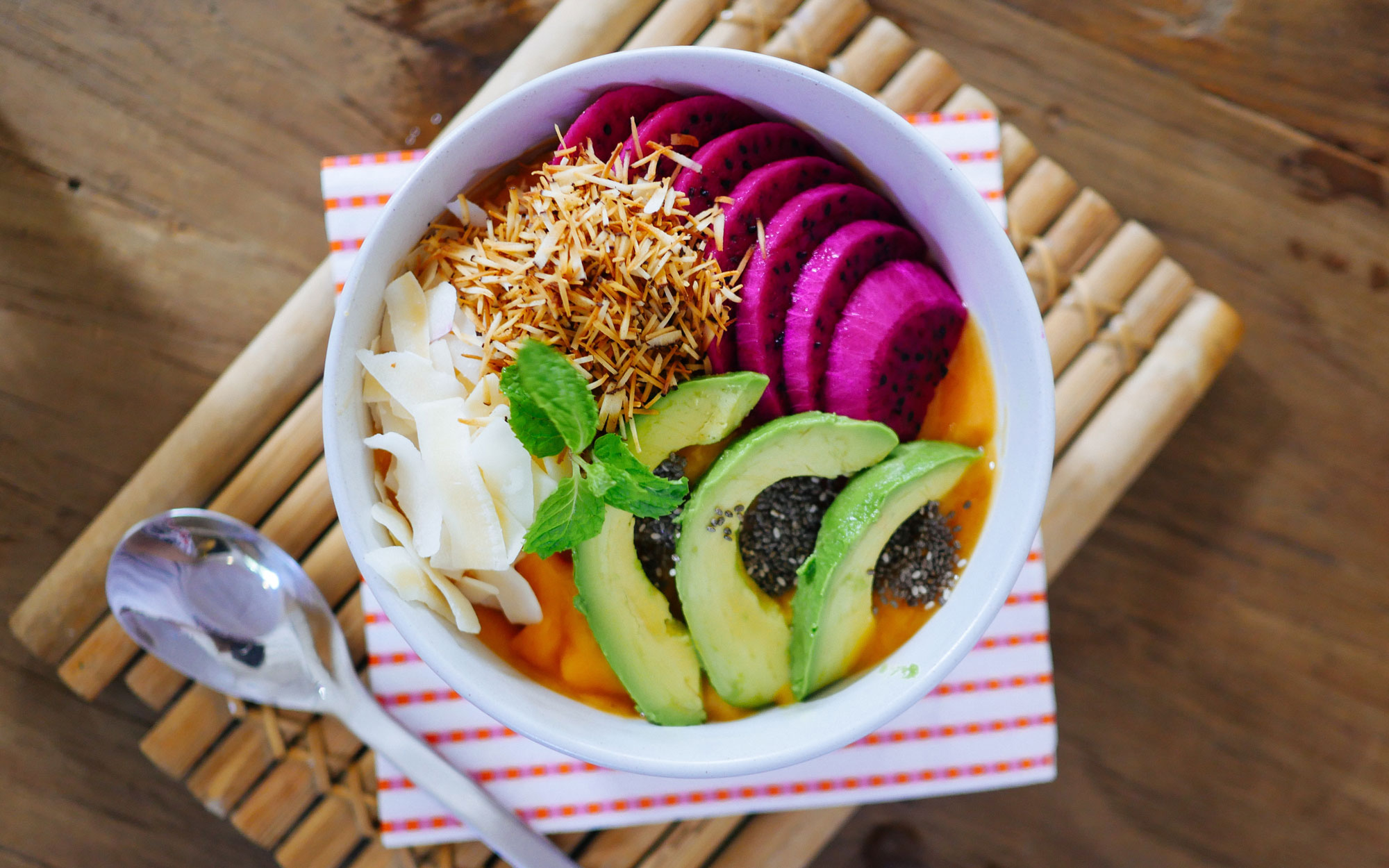 Healthy eating trend in conference food avocado beetroot bowl credit mariana montes de oca