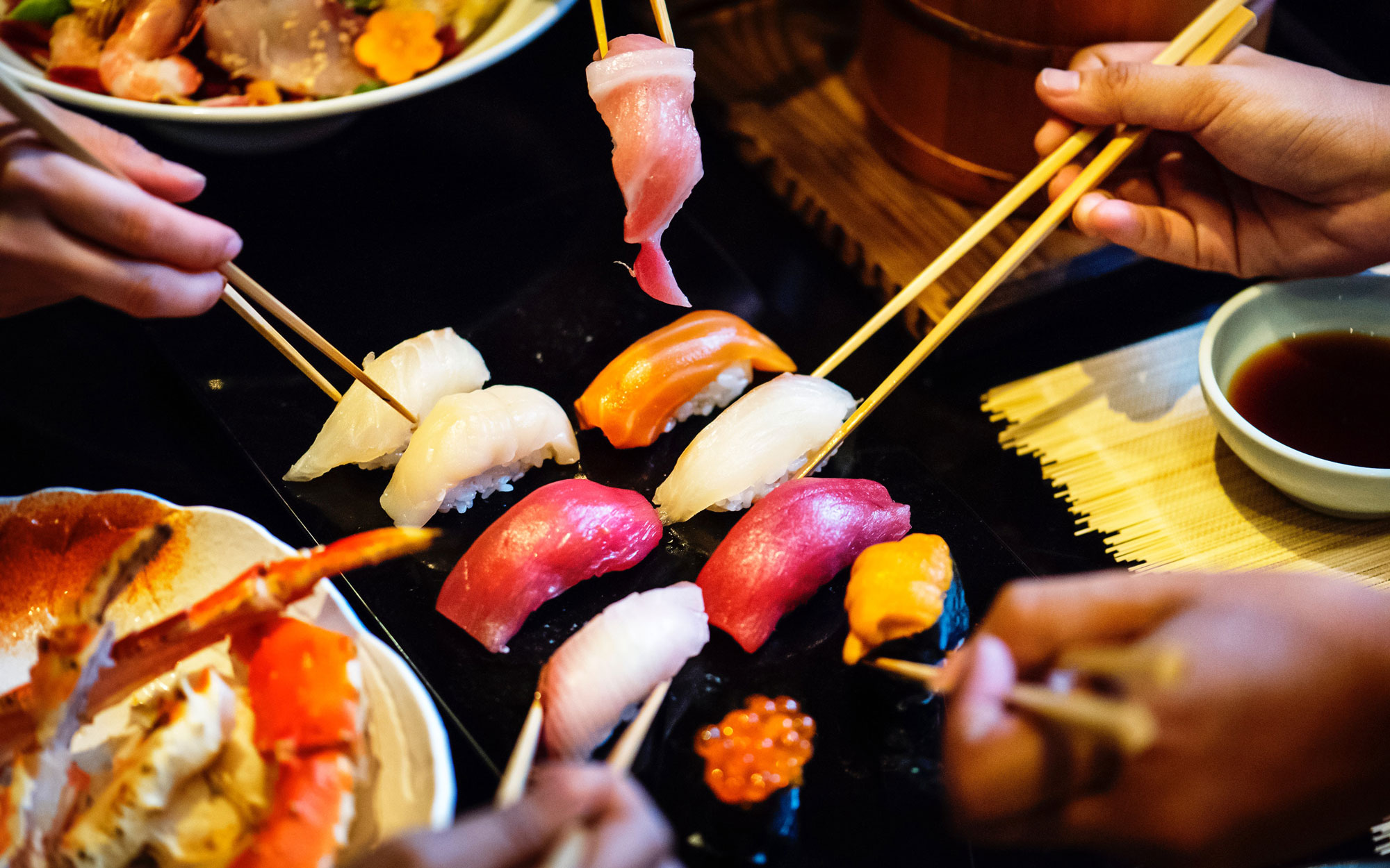 Healthy eating trend in conference food sushi japanese food credit rawpixel