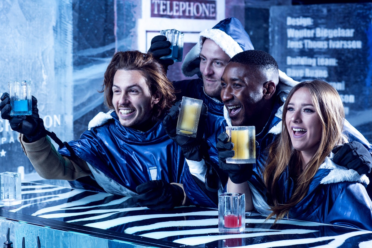 Free 'bottomless' drinks upgrade with events at ICEBAR London