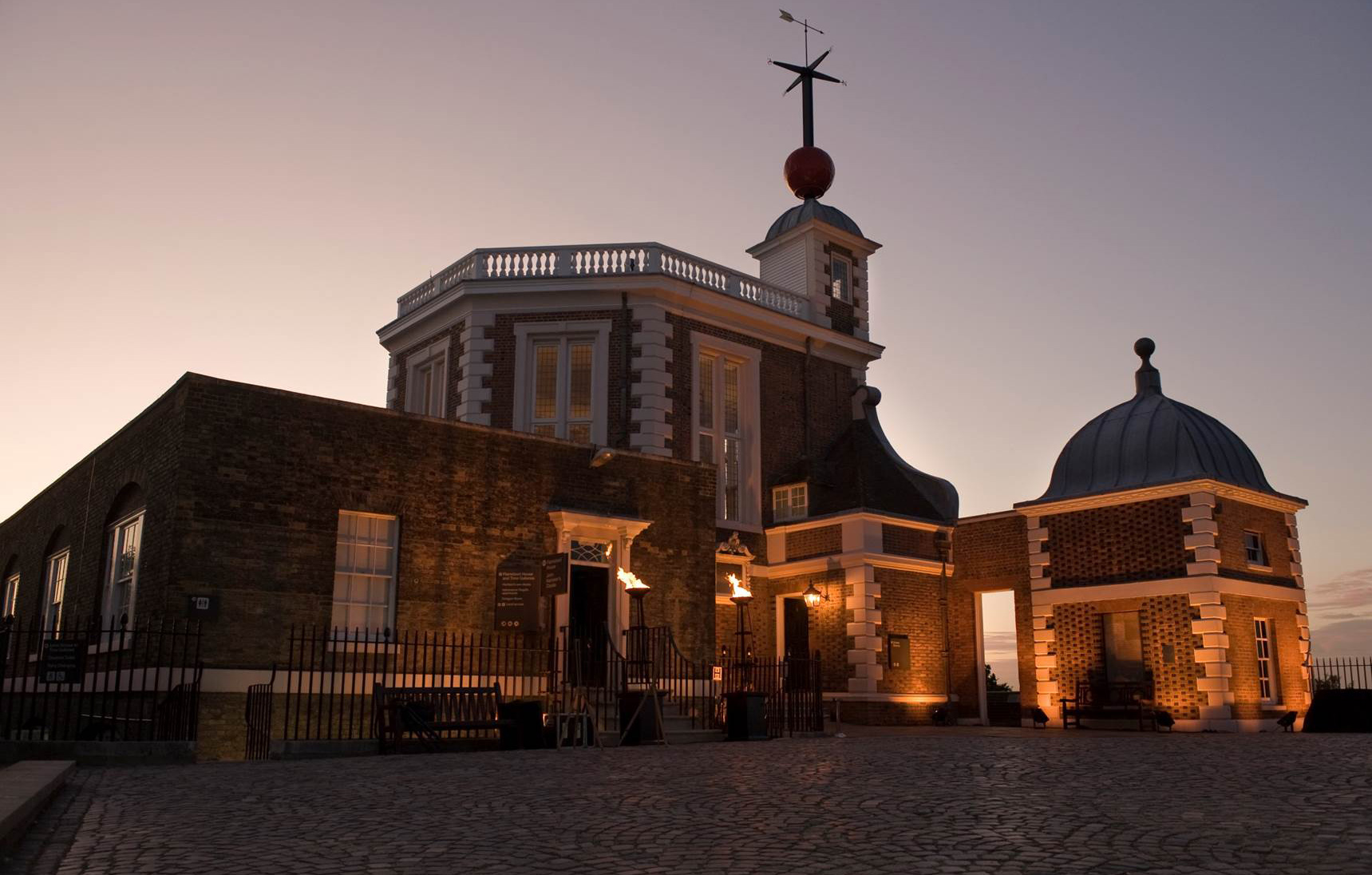 Weddings at The Royal Observatory greenwich venue hire events exterior evening