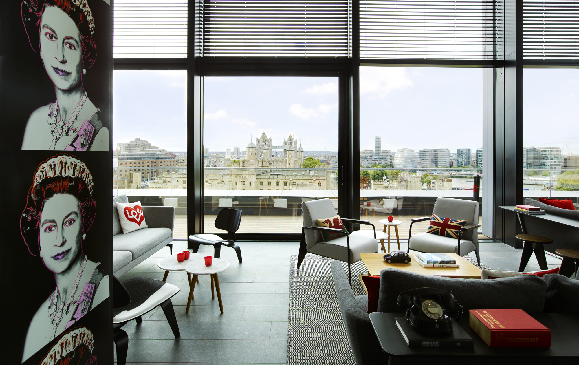 CitizenM Tower of London hotels arty designer venue hire events group bookings lounge
