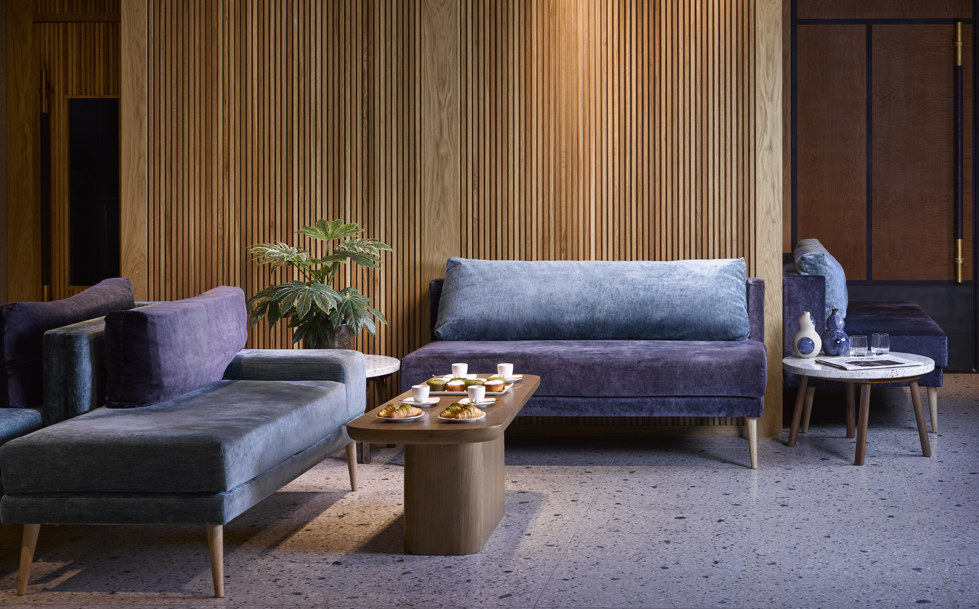 Nobu Shoreditch london hotels venue hire private events arty and designer interiors purple lounge