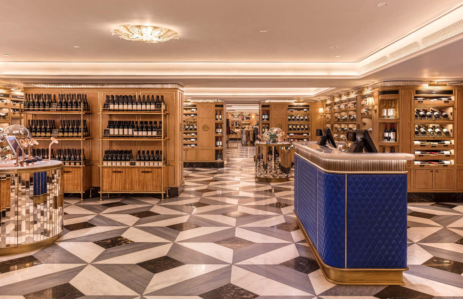 Harrods Wine and Spirit Rooms west end venues events aroma tables private tastings cool arty designer luxe interiors