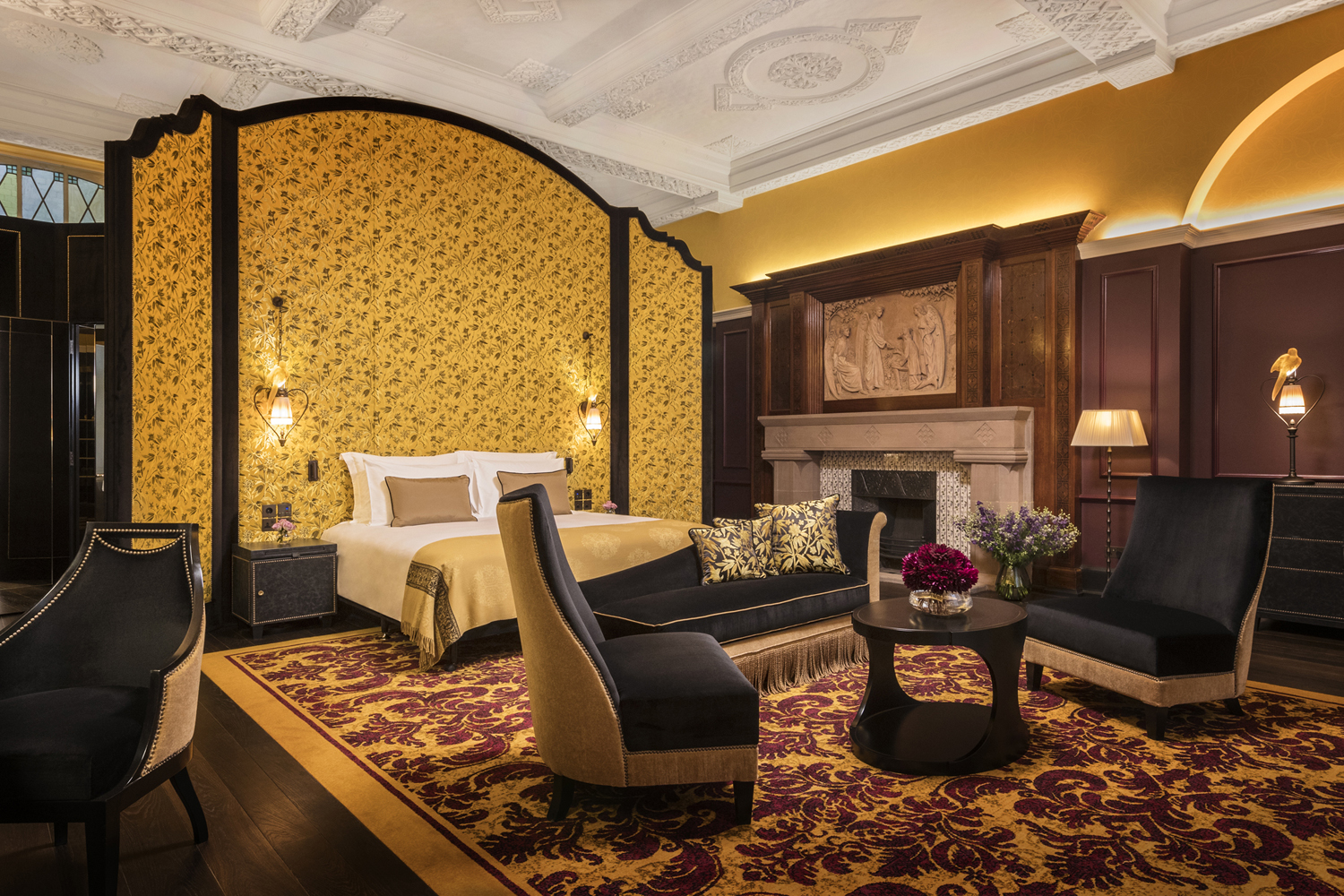 L Oscar hotels london west end bloomsbury venue hire events luxury cool interiors bedroom