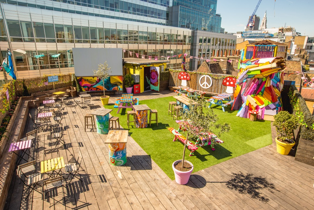 Queen of Hoxton Lost Vegas summer parties rooftop lounge drinks london venues