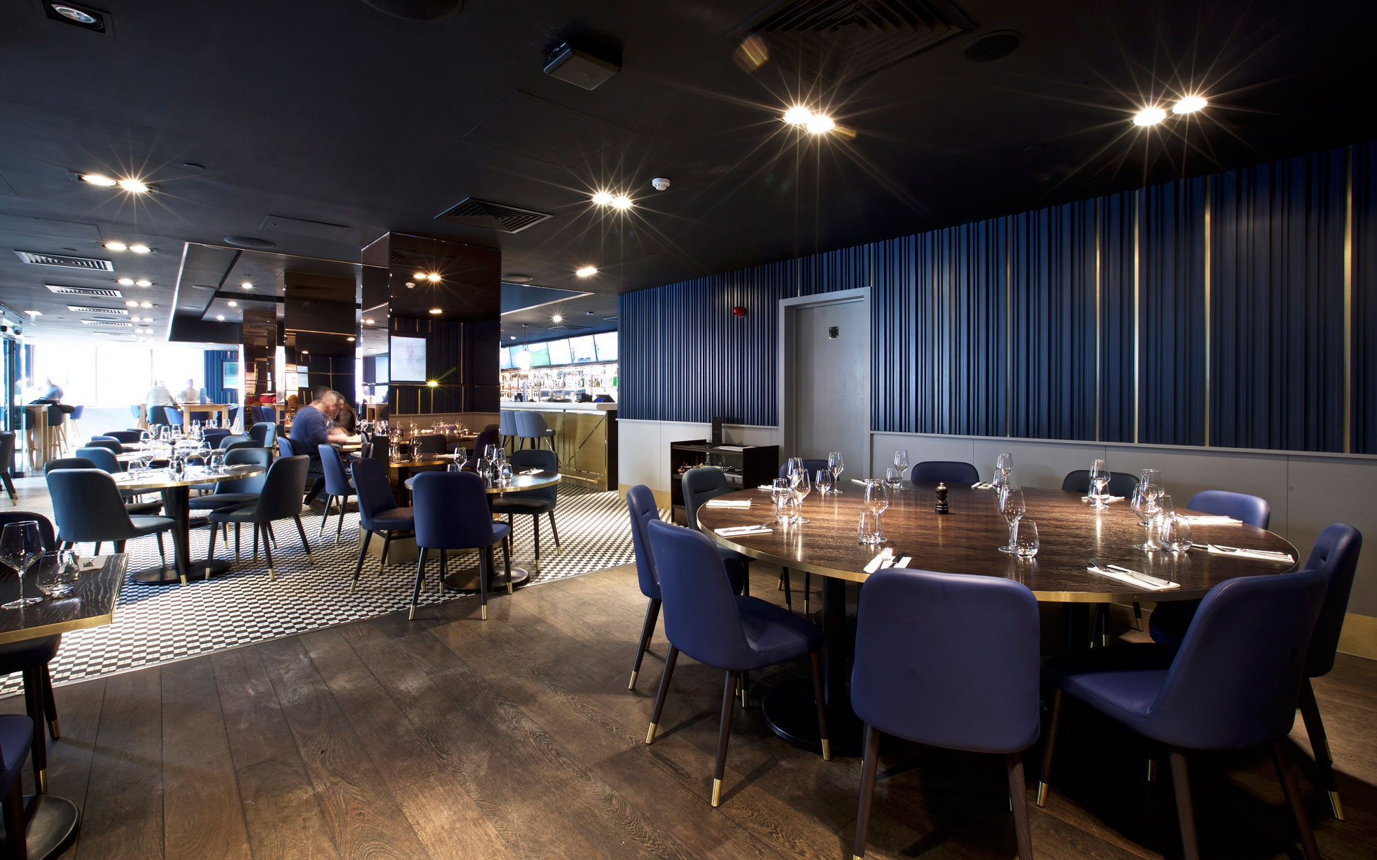 Frankie's Bar & Grill at Chelsea Football Club new interiors