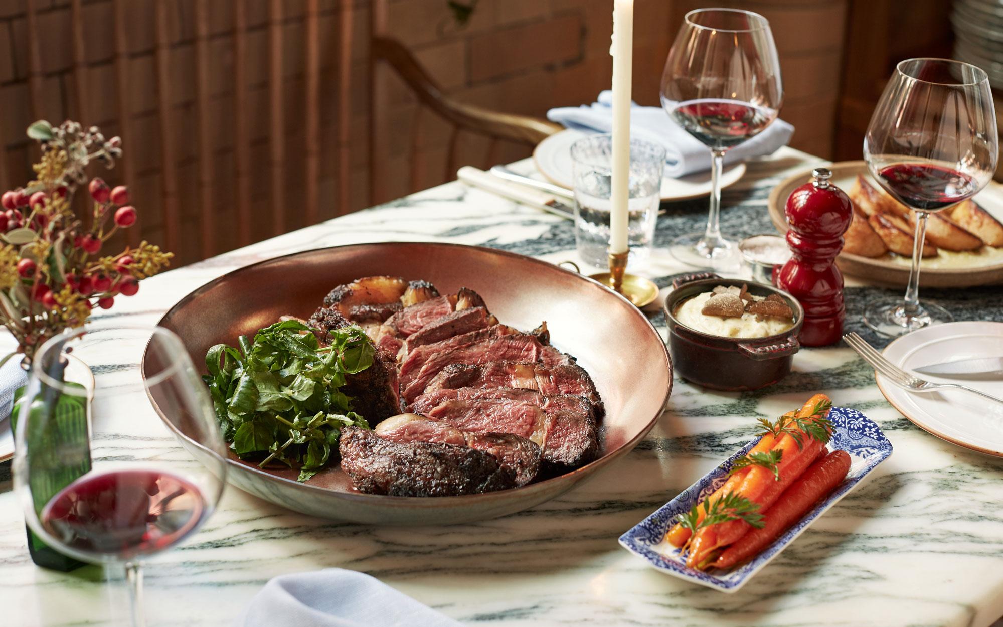 Chiltern Firehouse Xmas feast steak