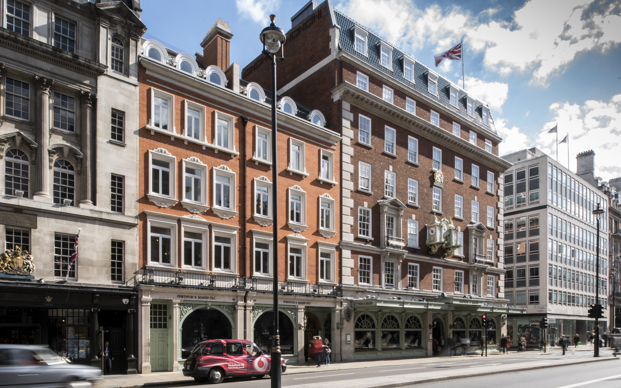 Fortnum and Mason luxury fine goods london uk venue hire private dining events building exterior west end