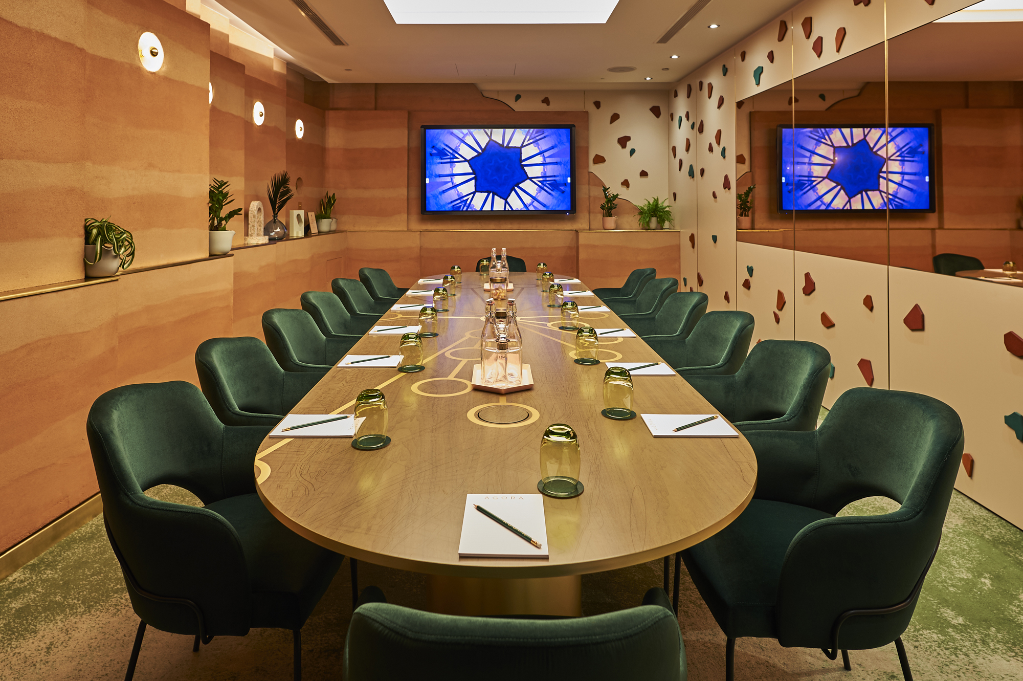 London Hilton Bankside agora meeting room bompas and parr productivity boosting design cool spaces