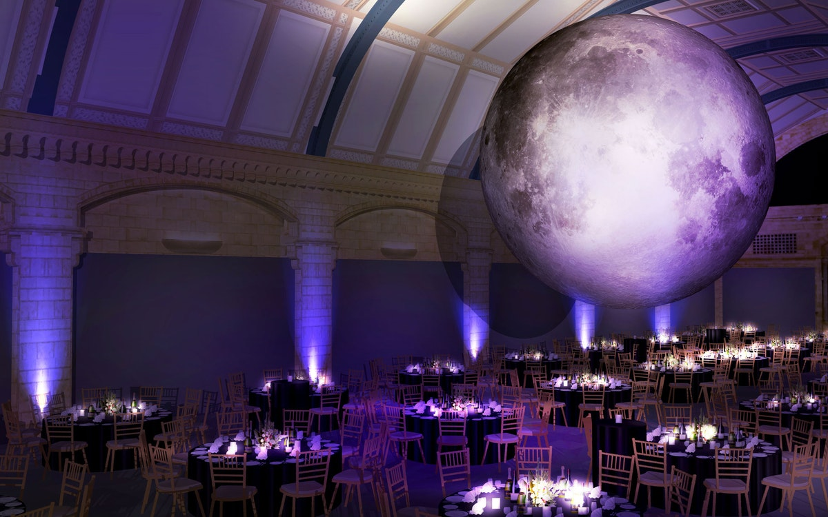 Museum of the moon arrives at the natural history museum and its available for events