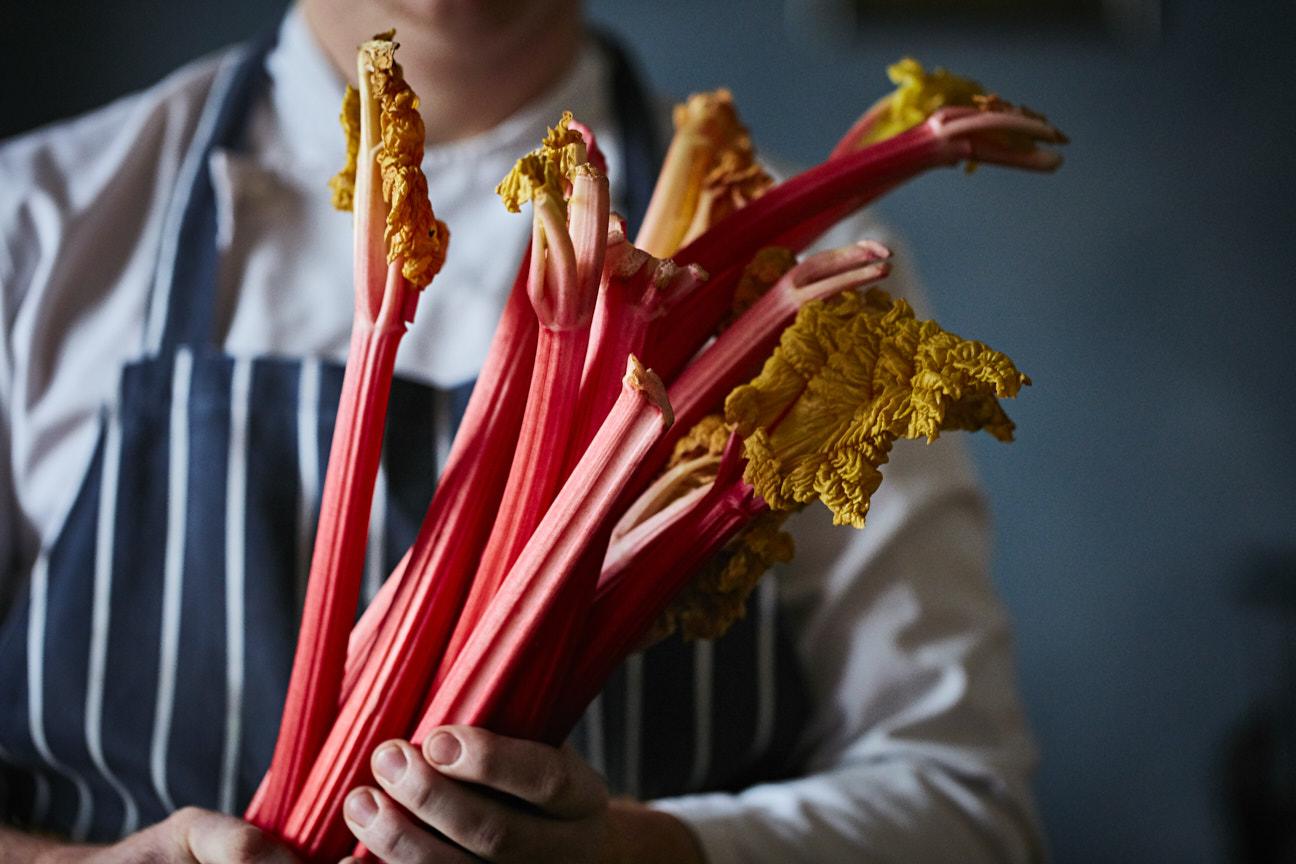 Bryn Williams Somerset House rhubarb